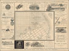 San Francisco Map By G.W. Hughes
