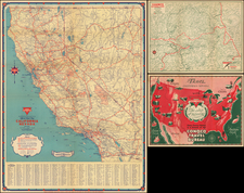 California and Yosemite Map By Gousha Company