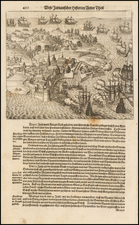 Caribbean Map By Theodor De Bry / Matthaeus Merian
