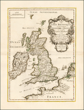 British Isles Map By J. Besson / Pierre Du Val