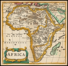 Africa and Africa Map By Philipp Clüver