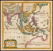 China, India, Southeast Asia, Philippines, Other Islands and Australia Map By Philipp Clüver