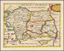 Balearic Islands and Turkey & Asia Minor Map By Nicolas Sanson