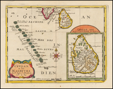 India and Other Islands Map By Nicolas Sanson