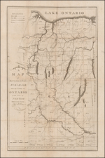 New York State Map By Amos Doolittle  &  Augustus Porter