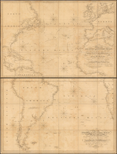 Atlantic Ocean, North America, South America, Europe, Africa and Africa Map By William Faden / I. Foss Dessiou