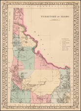 Idaho Map By Samuel Augustus Mitchell Jr.