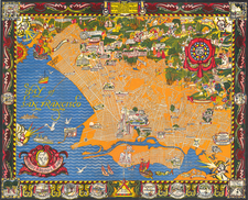 Pictorial Maps, California and Other California Cities Map By Eugene Neuhaus