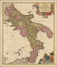 Italy and Southern Italy Map By Frederick De Wit