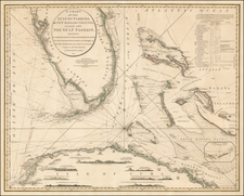 Florida and Caribbean Map By William Faden / George  Gauld