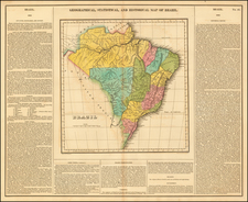 Brazil Map By Henry Charles Carey  &  Isaac Lea