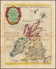British Isles Map By Nicolas Sanson