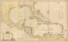 Florida, South, Mexico, Caribbean, Central America and South America Map By Joseph Smith Speer