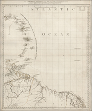 Caribbean and South America Map By Thomas Jefferys / William Faden