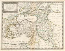 Les Estats de L'Empire des Turqs en Asie . . . . [Includes Cyprus] By Nicolas Sanson