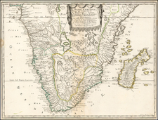 South Africa, East Africa and African Islands, including Madagascar Map By Nicolas Sanson