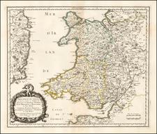 Wales Map By Nicolas Sanson