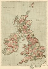 Europe and British Isles Map By J. David Williams
