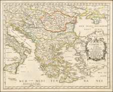 Greece and Turkey Map By Nicolas Sanson