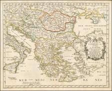 Turkey and Greece Map By Nicolas Sanson