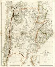 South America Map By John Arrowsmith
