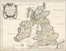 British Isles Map By Melchior Tavernier / Nicolas Sanson