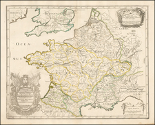 France Map By Nicolas Sanson