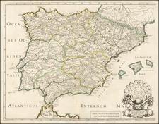 Spain Map By Nicolas Sanson