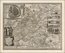 Russia and Ukraine Map By Claes Janszoon Visscher