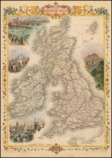 British Isles Map By John Tallis