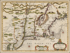 New England and New York Map By John Speed