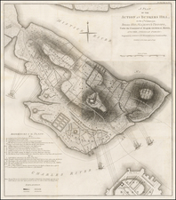 Massachusetts, Boston and American Revolution Map By Charles Stedman / William Faden