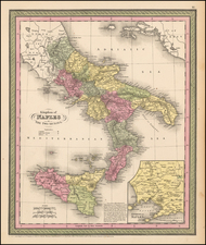 Italy, Southern Italy, Mediterranean and Balearic Islands Map By Thomas, Cowperthwait & Co.