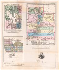 Utah and Utah Map By B.A.M. Froiseth