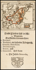 Mid-Atlantic and Southeast Map By Johann Ulrich Muller