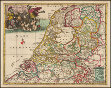 Netherlands Map By Anthoine de Winter