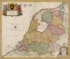 Netherlands Map By Frederick De Wit