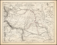 Plains, Southwest and Rocky Mountains Map By Augustus Herman Petermann