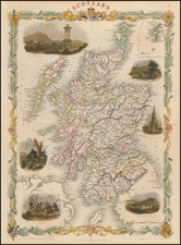 Scotland Map By John Tallis