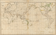 World and World Map By James Cook