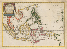 China, Southeast Asia, Philippines and Australia Map By Nicolas Sanson