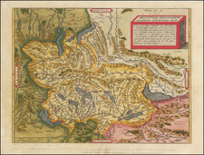 Switzerland Map By Abraham Ortelius