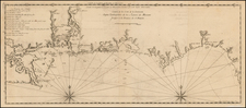 South and Louisiana Map By Antoine Jean de Laval