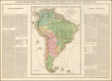 South America Map By Jean Alexandre Buchon