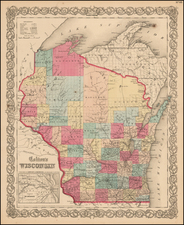Midwest and Wisconsin Map By G.W.  & C.B. Colton