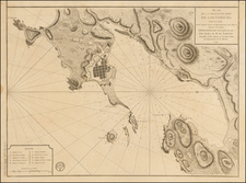 Canada and American Revolution Map By Depot de la Marine