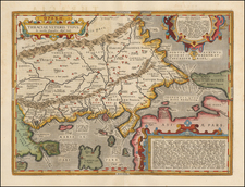 Greece, Turkey and Turkey & Asia Minor Map By Abraham Ortelius