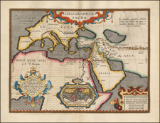 World, Europe, Europe, Middle East, Holy Land and Africa Map By Abraham Ortelius