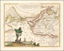 Polar Maps, Pacific Northwest, Alaska, North America, Pacific, Russia in Asia, California and Canada Map By Antonio Zatta