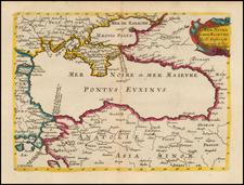 Russia, Ukraine, Turkey and Turkey & Asia Minor Map By Nicolas Sanson